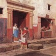 Rome Ruines vues  par un artiste Les Aquarelles Luigi Bazzani