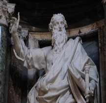Rome Rione Esquilino Basilique San Giovanni del Laterano Intérieur Statues Pierre le Gros