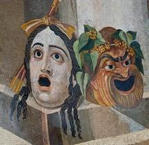 Mosaïque Rome Italie Rome Terme Deciane Mosaico con maschere sceniche Rome Museii Capitolini