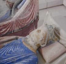 Statuaire Médiévale  Fontevraud Abbaye Gisant d'Henri II de Plantagenet