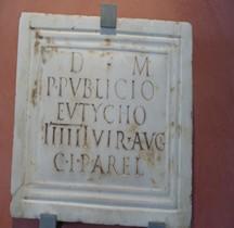 Rome Stèle Funéraire Sevir Publius Publicus Eutychos Arles