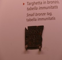 Pouvoir Epigraphie Tabella Immunitatis Grande Vestale Rome Palazzo Massimo