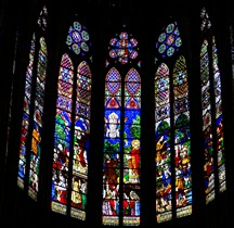 Seine St Denis .St Denis Basilique Interieur Vitraux