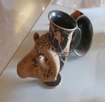 Etrurie Céramique Rhyton Bélier Ferrare