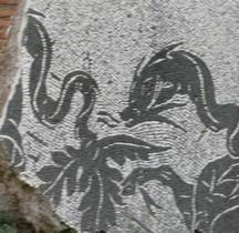 Rome Rione San Saba Thermes de Caracalla Palestre Ouest Mosaïques