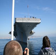 Porte avions USS Dwight D Eisenhower Naples