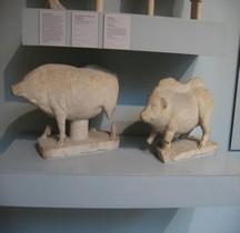 Religion Statues Animaux Sacrifiés Porcs Londres BM
