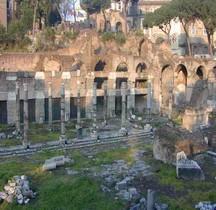 Rome Rione Campitelli Forums Impériaux 1 Forum Cesar Portiques Sud Ouest