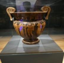 Etrurie Céramique Cratère Volutes Hoplites Comacchio