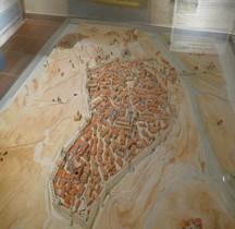 Hérault Beziers sous les Trencavel Plan en relief XII° siècle  Beziers