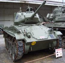 Char léger M 24 Chaffee Bruxelles