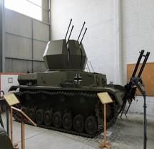 Automoteur DCA Flakpanzer IV Wirbelwind Militärhistorische Ausstellung Flugabwehr, Kiel
