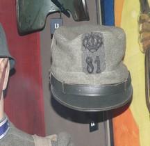 1915 Kepi 81e Reggimento fanteria Torino