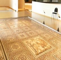Mosaïque Rome France Rhone Lutte d'Eros et de Pan Lyon