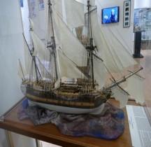 1758 Navire Marchand Compagnie des Indes Le Boullongne maquette Menton