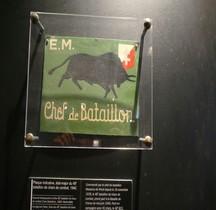 2°GM 1940 48e BCC Plaque Etat Major Paris