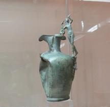 Etrurie Bronze Oinochoe avec Anse Danseur Bologne