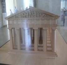 Elide Olympie  Temple de Zeus Maquette Paris