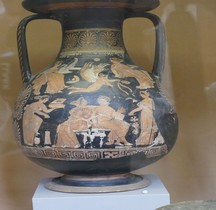 Grande Grèce Apulie Céramique  Péliké Représentation Nuptiale  St Germain en Laye MAN