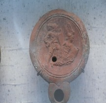 Lucerna Lampe Huile Motifs Gladiateurs