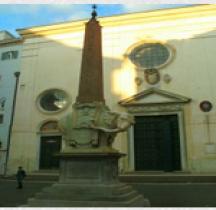 Rome Rione Pigna Obelisque Sopre minerva