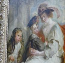 Peinture XVIIe  Hélène Fourment et deux de ses enfants  Hélène Fourment et deux de ses enfants 1630 Pierre Paul Rubens