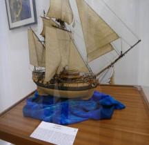 Galéote à Bombe 1753 La Salamandre Maquette Menton