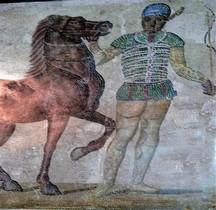 Mosaïque Rome Italie Rome Mosaico dei Aurighi nelle quattro fazioni Museo Nazionale Rome
