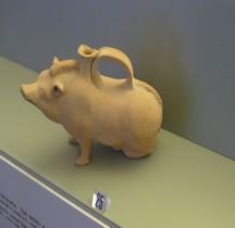 Etrurie Céramique Askos Forme Cochon Ferrare