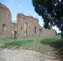 Rome Rione San Saba Thermes de Caracalla Murs exterieurs