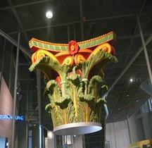 Génie Civil Constructions Chapiteau Corinthien Coloré Replique Xanten