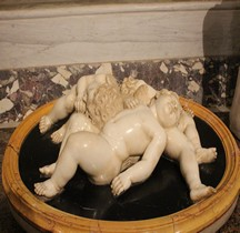 Statuaire Renaissance tre putti adormentiti 1609 Anonino Rome Villa Borghèse