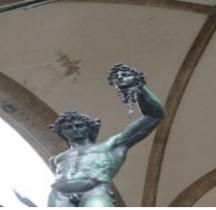 Statuaire Renaissance Perseo del Cellini Florence Piazza delle  Signoria