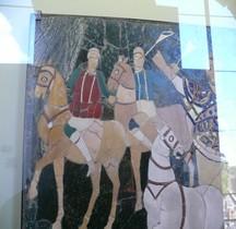 Mosaïque Rome Italie Pompa Basilique Bassus Capitole