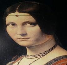 Peinture Renaissance La Belle Ferronière Léonardo de Vinci Paris Copie  Florence