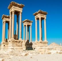 Syrie Palmyre Tétrapyle Avant  2017