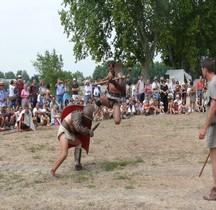 Gladiateur Combat Retiaire vs Mirmillon  Arles 2008