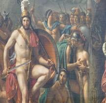 Peinture XIXe Léonidas aux Thermopyles Paris Louvre