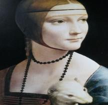Peinture Renaissance La dame à l Hermine Léonardo de Vinci Cracovie Copie  Florence