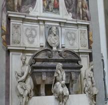 Florence Basilica di Santa Croce Intérieur Tombe de Michel Angelo