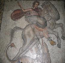 Mosaïque Rome Espagne Girona Bell Iloc Mosaïque de Bellerophon Tuant Chimère Barcelone