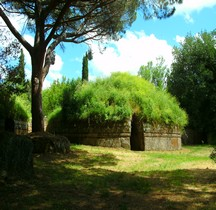 Etrusques Nécropole Cerveteri Necropole della Banditaccia Tumuli