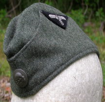 1943 Feldmütze SS- VT (Verfügungstruppe) Feldgrau Wool  EM/NCO