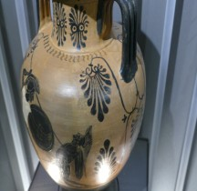 Etrurie Céramique Amphorisque Décor Hoplite  Mougins
