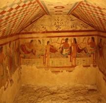 6 Etrusques Nécropole Tarquinia Nécropole dei Monterozzi Tomba dei  Leopardi