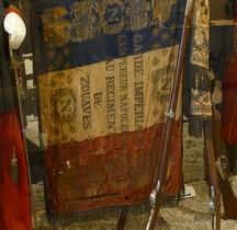 Napoléon III 1854 Garde Impériale Drapeau Régiment de Zouaves Salon Emperi Paris