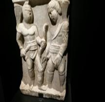 Statuaire Bas relief Gladiateurs Rétiaire Vs Secutor Rome Museo nazionale