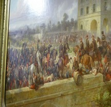 Peinture XIXe Paris Invalides Bataille Magenta 1859 E Charpentier