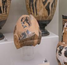Falisques Céramique Askos Casque Chalcidien Rome MNE
