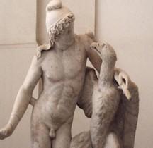 Statuaire Grèce Copie Rome Ganimede Con Aquila Naples